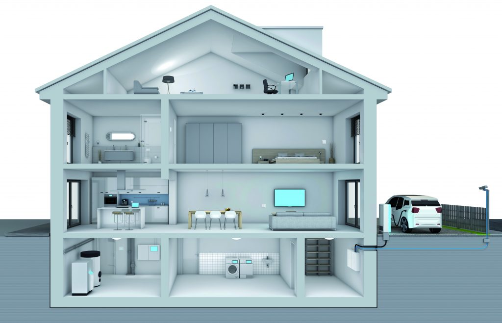 ABB_Smart Home_Querschnitt_Haus