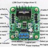 Motor DC com Driver Ponte H L298N