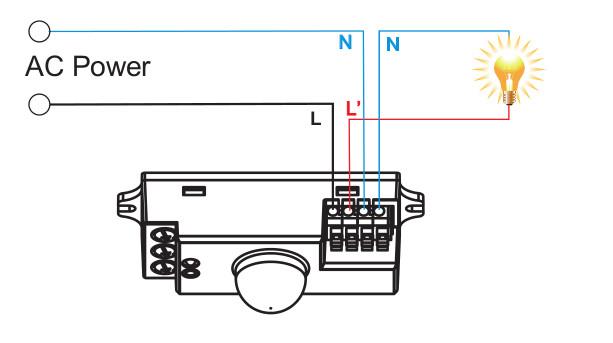 mikrodalga radar sensör bağlantı şeması
