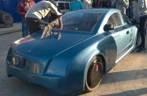 Yerel T1 elektrikli araç önden görünüşü