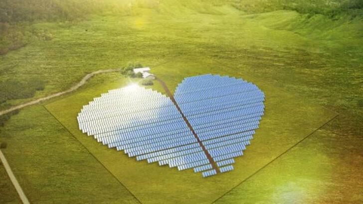 Kalp Şeklinde Güneş Enerjisi Santrali