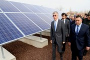 Güneş enerjisi ile üretilen elektrik köylerde kullanılmaya başlandı