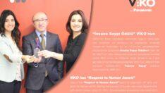 İnsana Saygı Ödülü VİKO'nun oldu