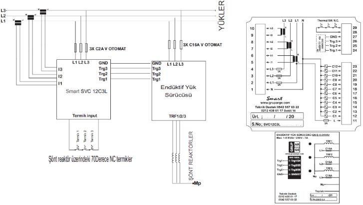 SVC kompanzasyon bağlantısı