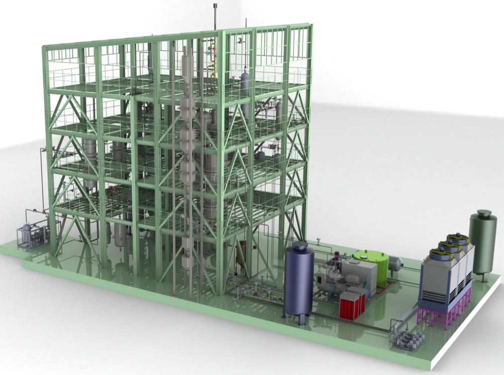 Manisa, Soma'da kurulan TRİJEN tesisinin tasarımı